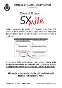 DESTINAZIONE 5XMILLE ALLE ATTIVITA' SOCIALI DEL COMUNE